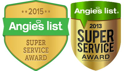 Angie's List 2013 & 2015 Super Service Award