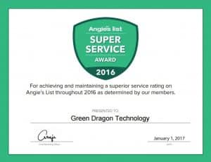We Won the Angie's List 2016 Super Service Award!